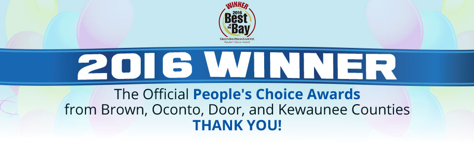 Pool Works Inc. is the 2016 winner of the People's Choice Awards from Brown, Oconto, Door, and Kewaunee counties!