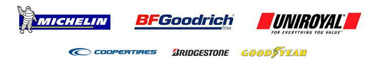 We carry products from Michelin®, BFGoodrich®, Uniroyal®, Cooper Tires. Bridgestone, and Goodyear.