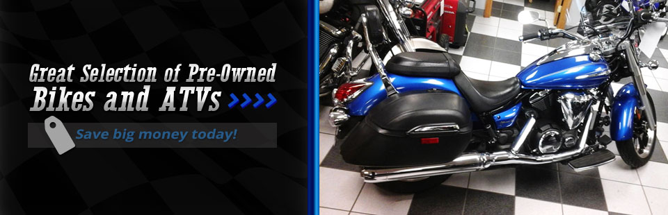 Great Selection of Pre-Owned Bikes and ATVs: Click here to view the models.