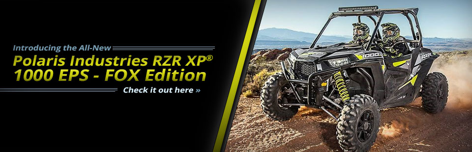 2015 Polaris RZR XP® 1000 EPS - FOX Edition: Click here to view the model.
