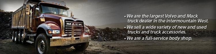 Mountain West Truck Center is the Volvo and Mack truck dealer in the intermountain West. We sell a wide variety of new and used trucks and truck accessories, and we are a full-service body shop.