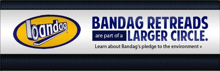 Bandag retreads are part of a larger circle. Click here to learn about Bandag's pledge to the environment.