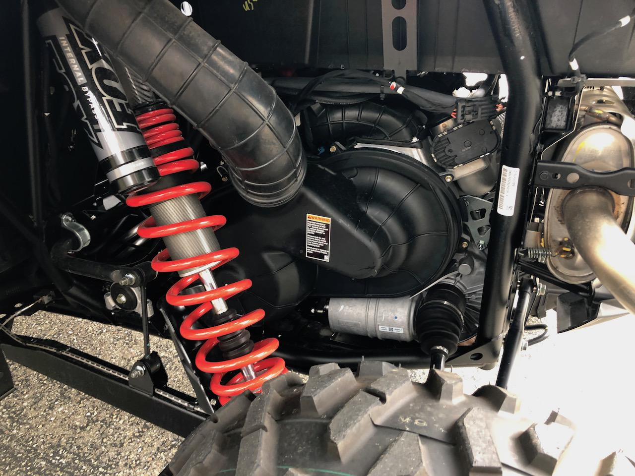 2018 Polaris Industries RZR XP® 4 Turbo EPS FOX Edition - Matte Sunset Red