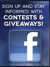 Sign up on Facebook and stay informed with contests and giveaways!