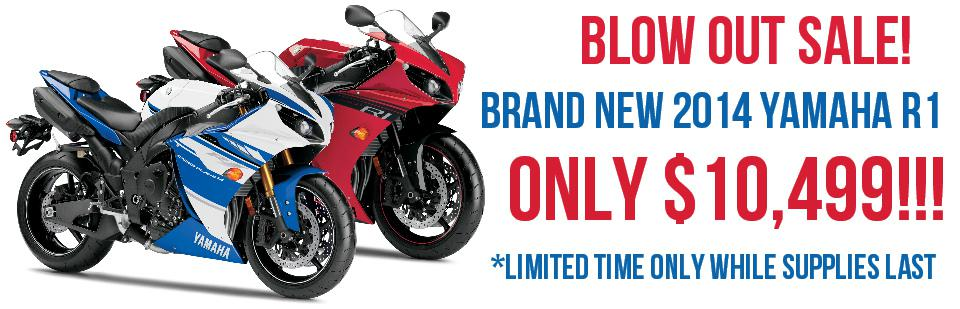 2014 Yamaha R1 Blow Out Sale