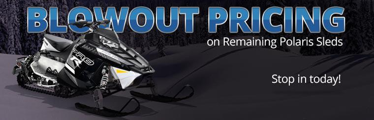Blowout Pricing on Remaining Polaris Sleds: Stop in today!