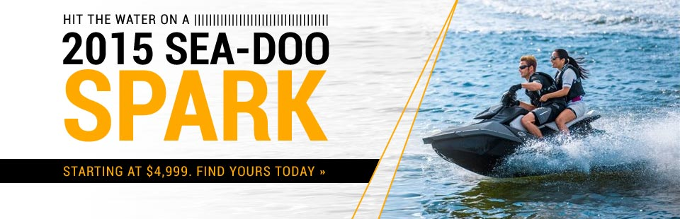 2015 Sea-Doo Spark: Now starting at $4,999! Click here to find yours.