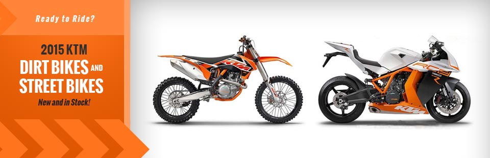 2015 KTM Dirt Bikes and Street Bikes: Click here to view the models.