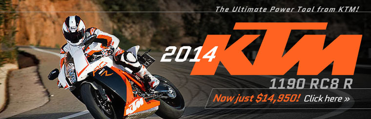 The 2014 KTM 1190 RC8 R is now just $14,950!