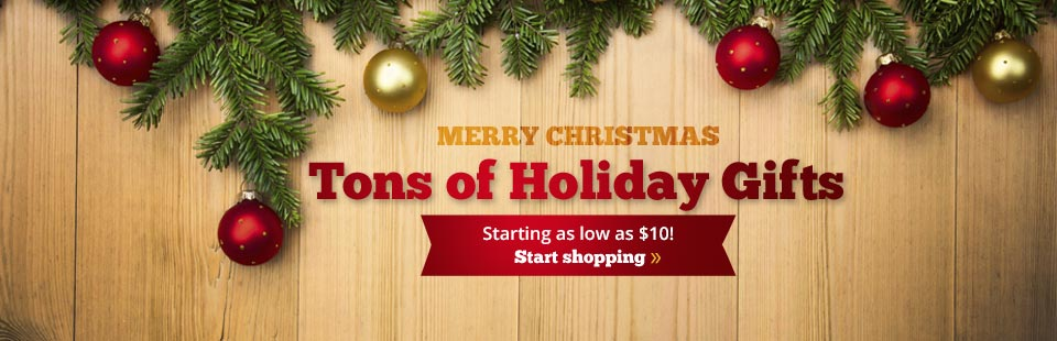 We have tons of holiday gifts starting as low as $10!