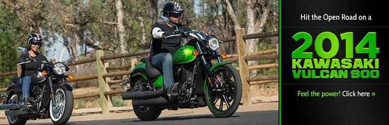 Hit the open road on a 2014 Kawasaki Vulcan 900.