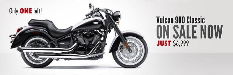 The 2013 Kawasaki Vulcan 900 Classic is on sale now for just $6,999!