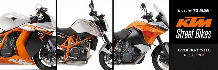 Click here to view the 2014 KTM street bikes.