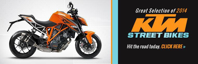 Click here to view our great selection of KTM street bikes.