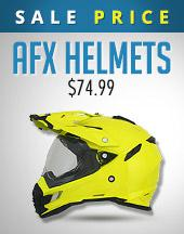 Sale Price: AFX Helmets - $74.99