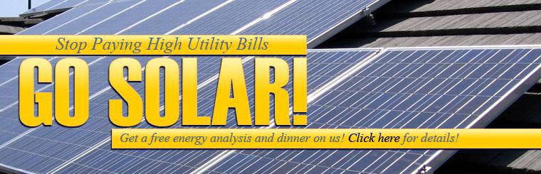 Get a free energy analysis and dinner on Chico Roofing Company.