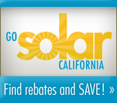 Go Solar; Find rebates and SAVE. Click here for more information.
