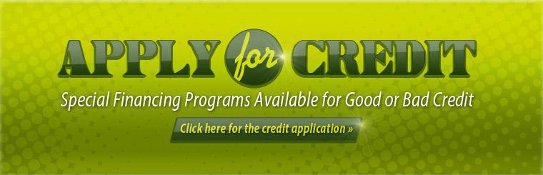 Special financing programs are available for good or bad credit! Click here for the credit application.