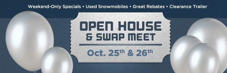 Join us October 25th and 26th for our Open House and Swap Meet! Click here for details.