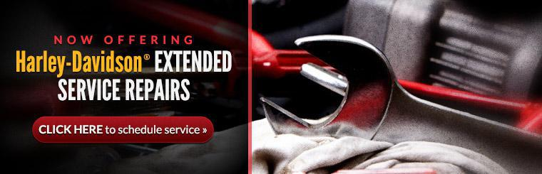 Now Offering Harley-Davidson® Extended Service Repairs: Click here to schedule service.