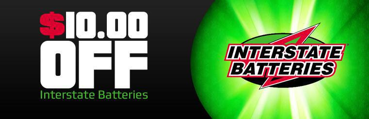 Interstate Batteries Special: Get $10 off!
