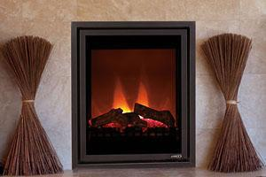 MPE-27—This is a sleek, top of the line electric fireplace *Burning Showroom Display*