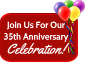 Join us for our 35th Anniversary Celebration!
