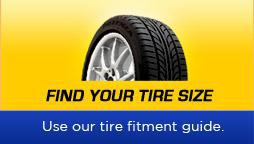 Find Your Tire Size: Use our tire fitment guide.