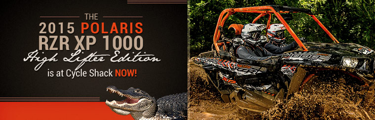 The 2015 Polaris RZR XP 1000 High Lifter Edition is at Cycle Shack now!