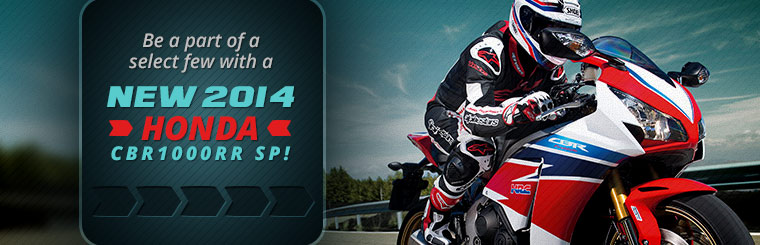 Be a part of a select few with a new 2014 Honda CBR1000RR SP!