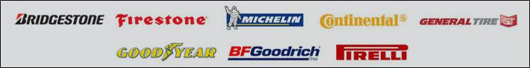 We carry products from Bridgestone, Firestone, Michelin®, Continental, General, Goodyear, BFGoodrich®, and Pirelli.