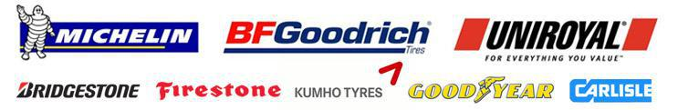 We proudly feature products from Michelin®, BFGoodrich®, Uniroyal®, Bridgestone, Firestone, Kumho, Goodyear, and Carlisle.