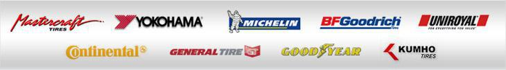We proudly carry products from Mastercraft, Yokohama, Michelin®, BFGoodrich®, Uniroyal®, Continental, General, Goodyear, and Kumho.