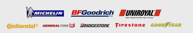 We proudly carry Michelin®, BFGoodrich®, Uniroyal®, Continental, General, Bridgestone, Firestone, and Goodyear.