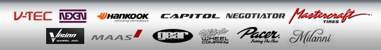 We proudly carry products from V-Tec, Nexen, Hankook, Capitol, Negotiator, Mastercraft, Vision, Maas, Gear, Ultra, Pacer, and Milanni.