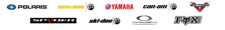 We proudly offer products by Polaris, Sea-Doo, Yamaha, Can-Am, Victory, Spyder, Ski-Doo, Oakley, and Fox racing.