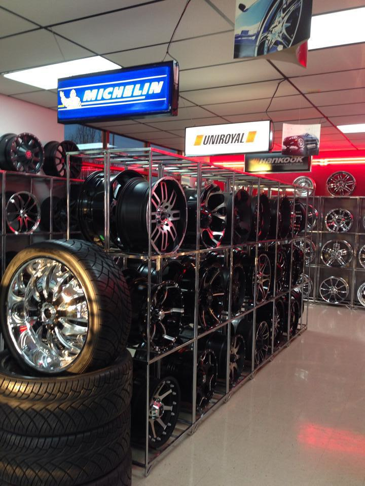 We've remodeled our tire and wheel showroom.