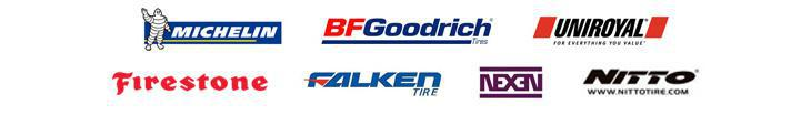 We carry products from Michelin®, BFGoodrich®, Uniroyal®, Firestone, Falken, Nexen, and Nitto.
