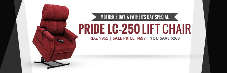Holiday Day Special: Get a Pride LC-250 lift chair for just $697!