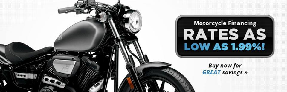 Motorcycle Financing: Get rates as low as 1.99%!