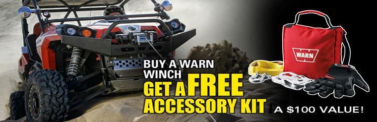 Buy a WARN Winch, get a FREE Accessory Kit!!