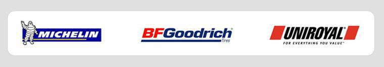 We carry products from Michelin®, BFGoorich®, and Uniroyal®.