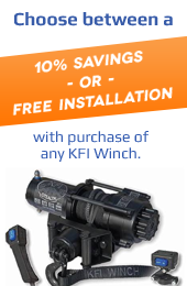 Choose between a 10% Savings or Free Installation with purchase of any KFI Winch.