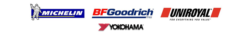 We carry products from Michelin®, BFGoodrich®, Uniroyal®, and Yokohama.