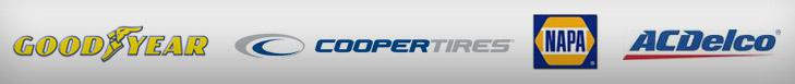 We proudly carry products from Goodyear, Cooper, NAPA, and ACDelco.