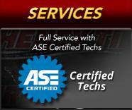 Services: Full Service with ASE Certified Techs.