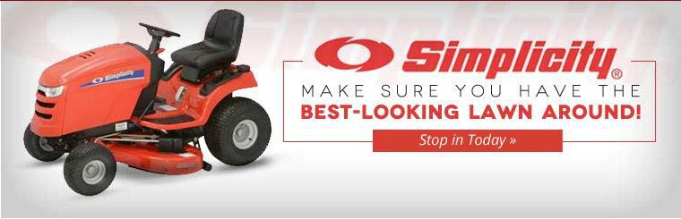 We carry Simplicity lawn mowers. Contact us for details.