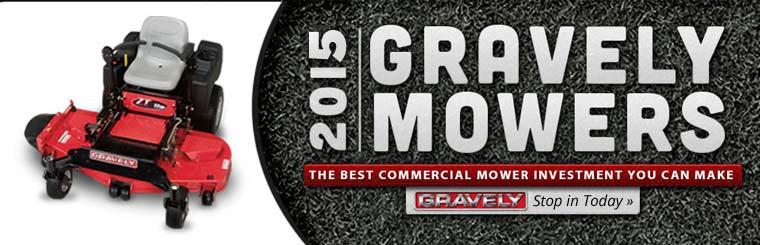 We carry the 2015 Gravely mowers. Contact us for details.