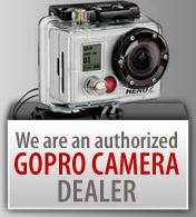 We are an authorized GoPro camera dealer!