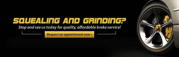 Stop and see us today for quality, affordable brake service! Click here to request an appointment.